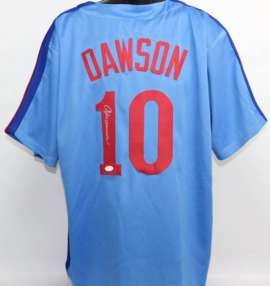 Andre Dawson Signed Montreal Expos Jersey (JSA COA) 1977 N L Rookie of the year