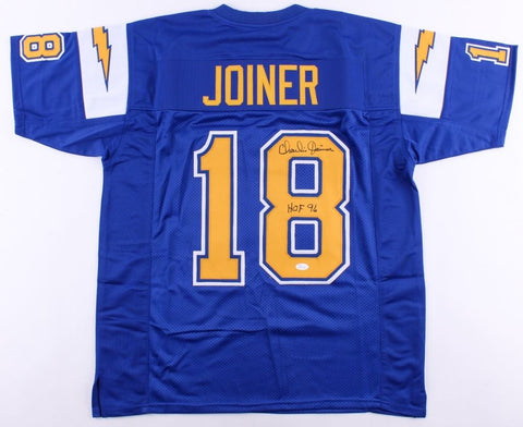 "Charlie Joiner Signed Chargers Jersey Inscribed ""HOF 96"" (JSA)  3× Pro Bowl"