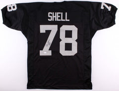 "Art Shell Signed Raiders Jersey Inscribed ""HOF -89"" (JSA COA) 8× Pro Bowl Tackle"