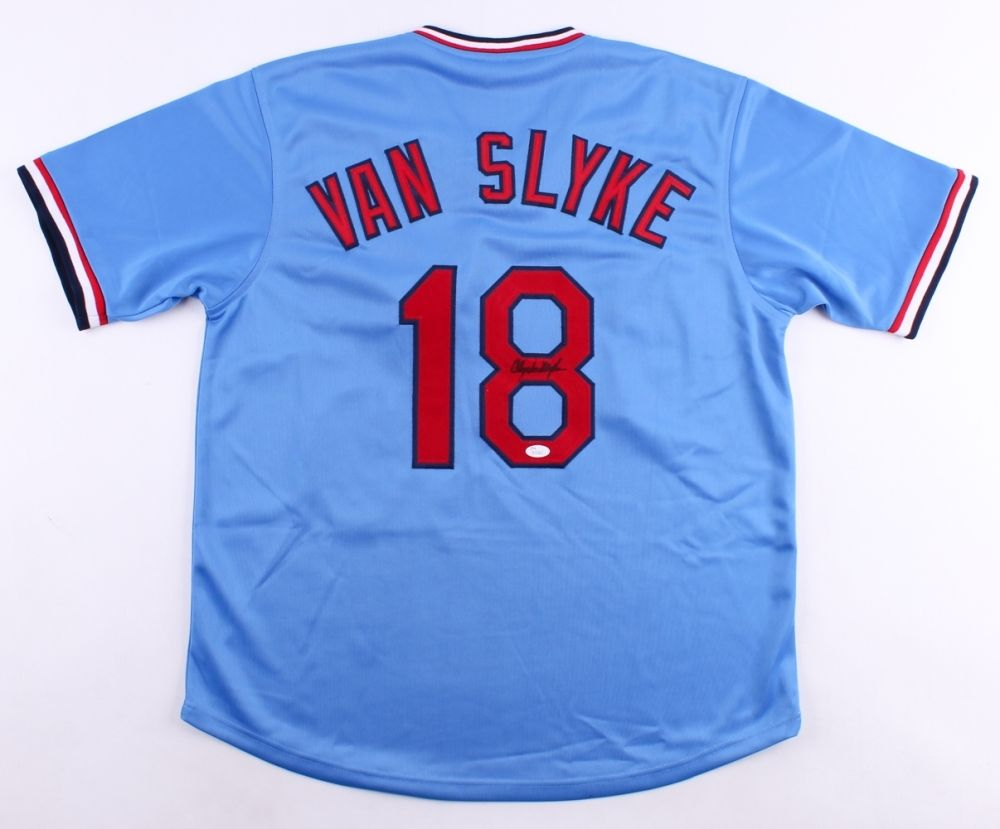 Andy Van Slyke Signed Cardinals Jersey (JSA) 3× All-Star (1988, 1992, 1993)