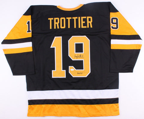 "Bryan Trottier Signed Pittsburgh Penguins Jersey Inscribed ""HOF 97"" (JSA COA)"