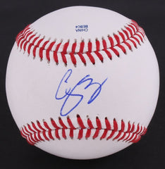 Corey Seager Signed OL Baseball (JSA COA) Dodgers 2016 Rookie of the Year