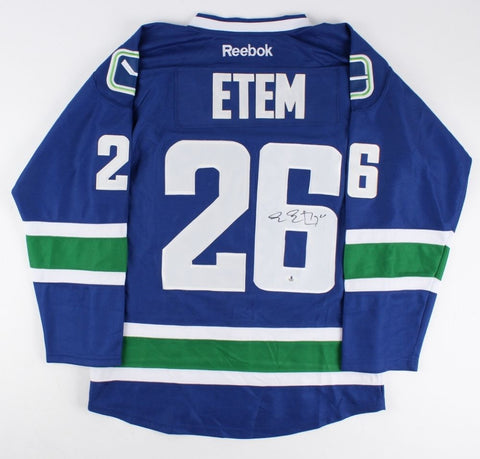 Emerson Etem Signed Vancouver Canucks Jersey (Beckett COA) All Star Right Wing