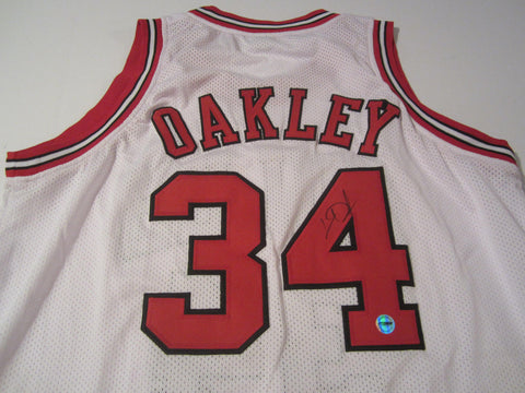 Charles Oakley Chicago Bulls signed jersey / NBA All-Star (1994) / COA