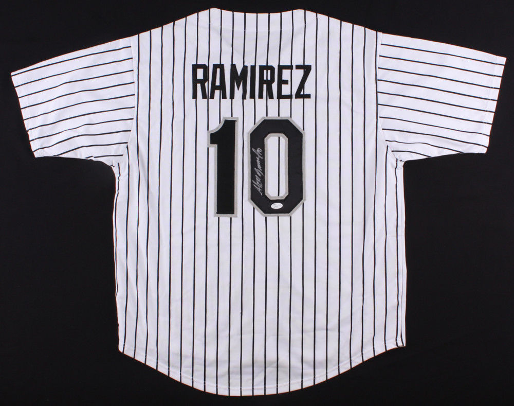 Alexei Ramirez Signed Chicago White Sox Pinstriped Jersey (JSA) 2014 All Star