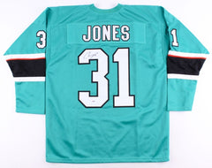 Martin Jones Signed Sharks Jersey (PSA COA) San Jose Starting Goal Tender
