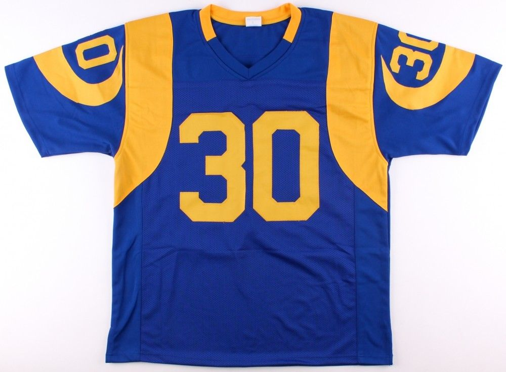 best service fc5b3 92be2 Todd Gurley Signed Los Angeles / St Louis Rams Blue / Yellow Jersey (PSA  COA )