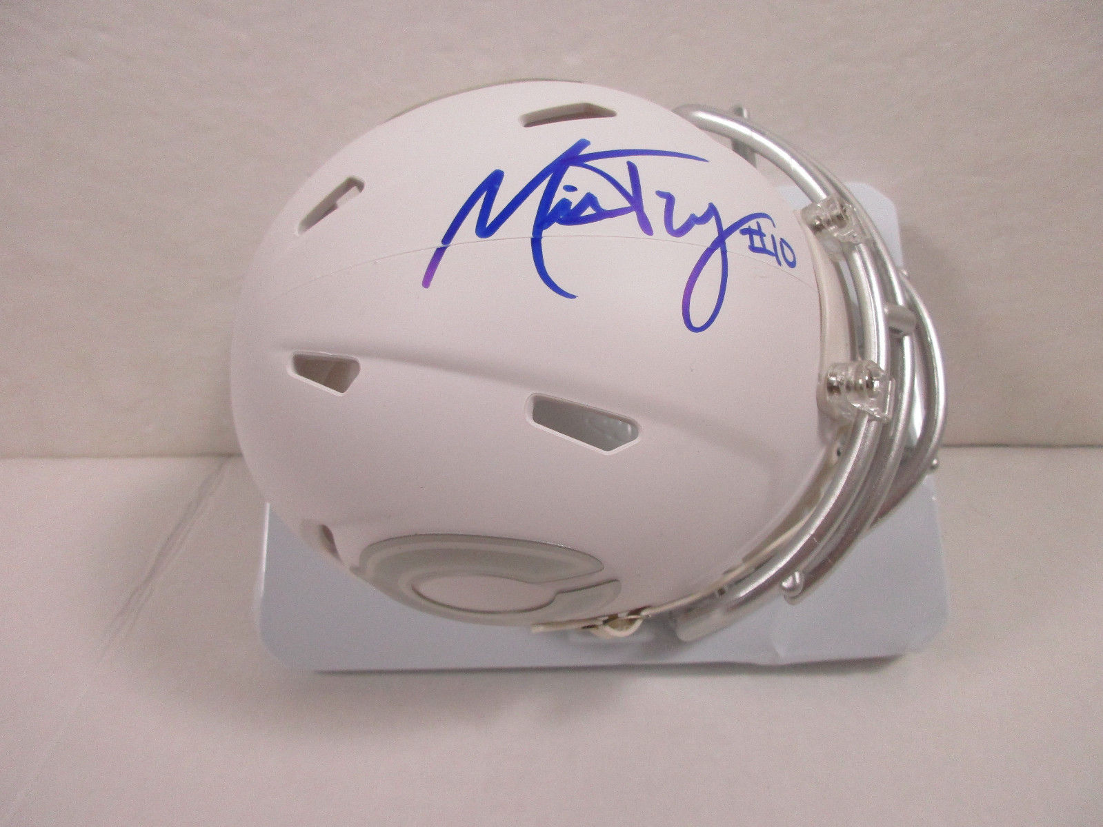 Mitch Trubisky Chicago Bears Signed Limited Edition Ice Speed Mini Helmet / COA