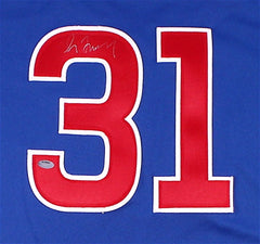 Greg Maddux Signed Chicago Cubs Jersey (Schwartz COA) 4 X CY Young Award Winner