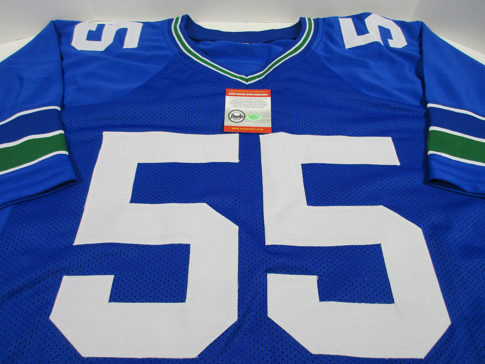 Brian Bosworth Signed Seahawks Jersey / 1985 National Champion Oklahoma Sooners