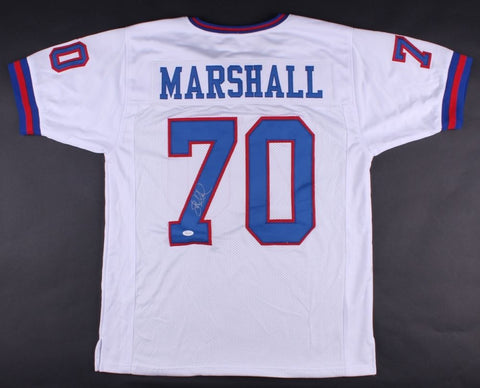Leonard Marshall Signed Giants Jersey (JSA COA) 1986 &1990 Super Bowl Champs