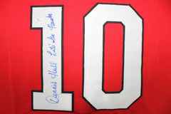"Dennis Hull Signed Blackhawks Jersey Inscribed ""Let's Go Hawks"" (JSA COA)"