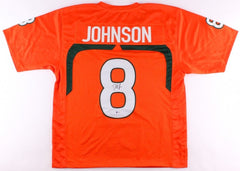 Duke Johnson Signed Miami Hurricanes Jersey (Beckett COA) Browns Feature Back