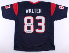 "Kevin Walter Signed Texans Jersey Inscribed ""Go Texans!"" (Fiterman Sports Holo)"