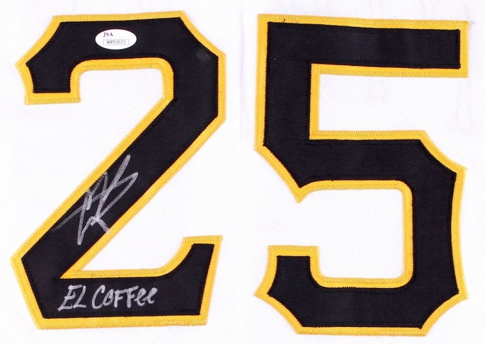 "Gregory Polanco Signed Pittsburgh Pirates Jersey Inscribed ""El Coffee"" (JSA COA)"