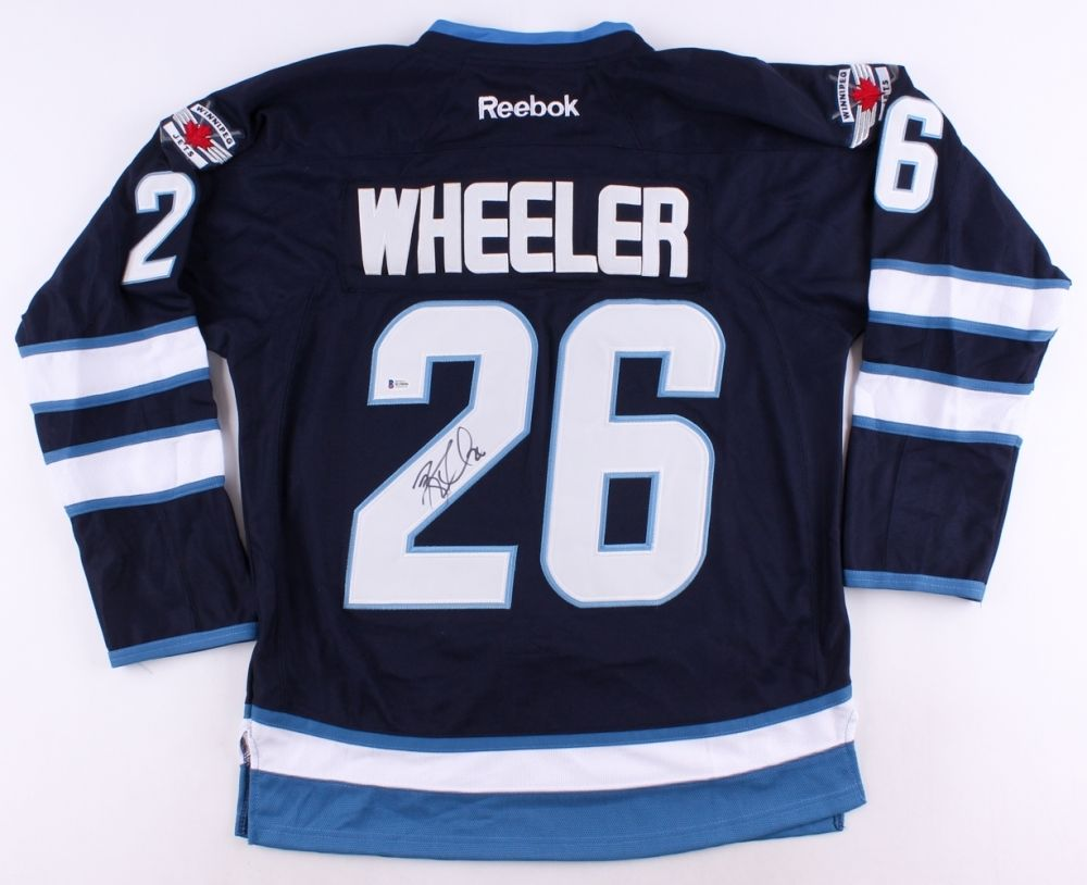 Blake Wheeler Signed Jets Jersey (Beckett COA) 5th Overall Pick 2005 NHL Draft