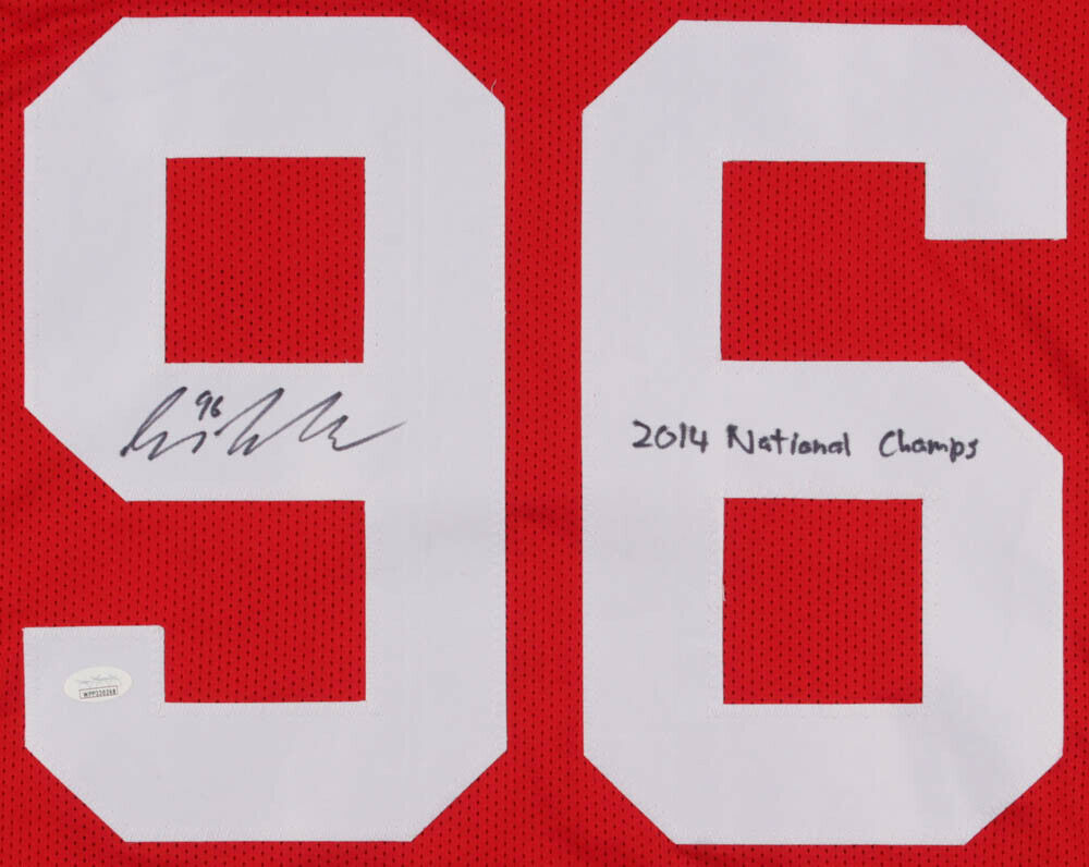 Sean Nuernberger Signed Ohio State Buckeyes Jersey Inscribd 2014 National Champs
