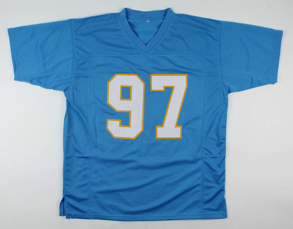 Joey Bosa Signed San Diego Chargers Jersey (Beckett) Ohio State D.E. / New #97