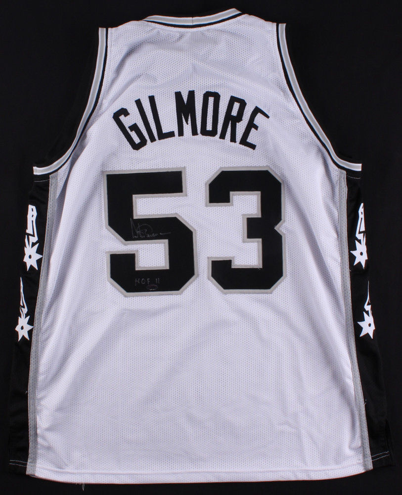 timeless design 49202 1262d Artis Gilmore Signed White San Antonio Spurs Jersey (Leaf COA) Inscribed  HOF 11