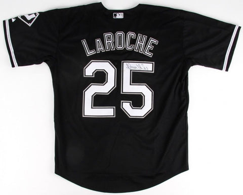 Adam LaRoche Signed White Sox Jersey (JSA COA) Gold Glove Award (2012)