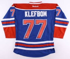 Oscar Klefbom Signed Oilers Jersey (Beckett) 19th Overall Pick 2011 NHL Draft