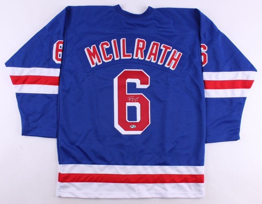 Dylan McIlrath Signed New York Rangers Jersey (First Class Autographs COA)
