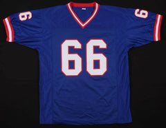 "William Roberts Signed Giants Jersey Inscribed ""SBXXI"" and ""SBXXV"" (PSA COA) O.G"