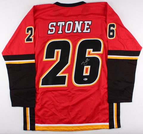 Michael Stone Signed Calgary Flames Jersey (Beckett COA) Career 2010–present