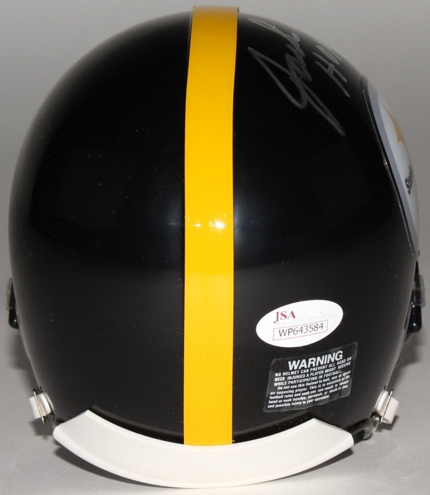 "Jack Ham Signed Steelers Mini-Helmet Inscribed ""HOF 88"" (JSA COA)"