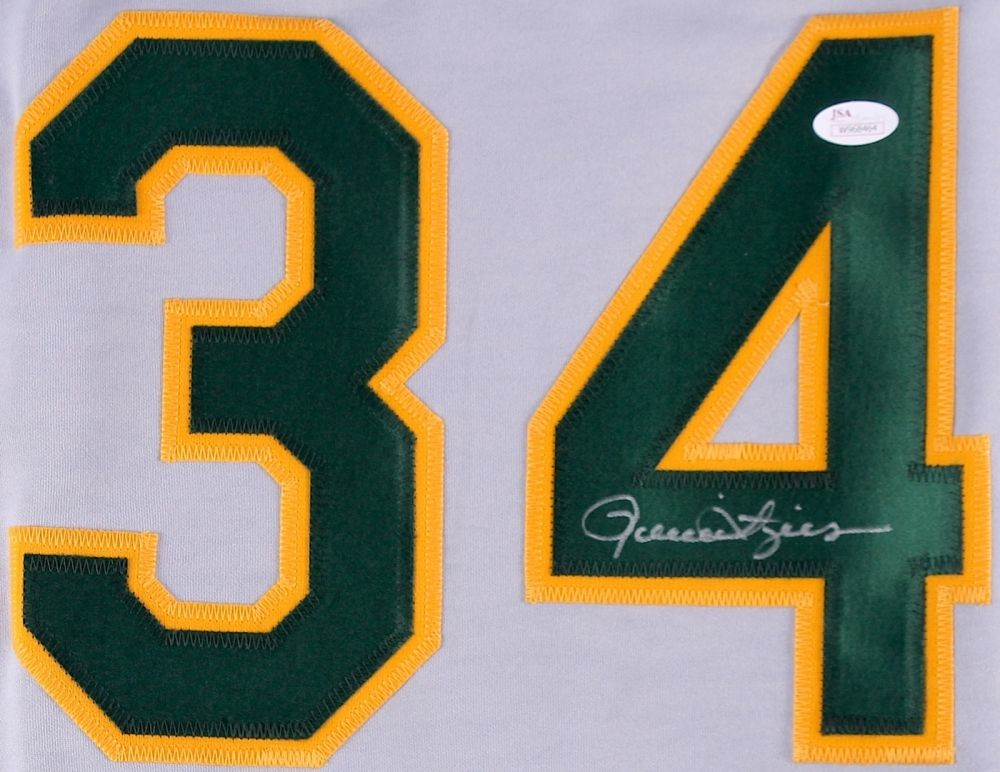 Rollie Fingers Signed Oakland Athletics Jersey (JSA COA)