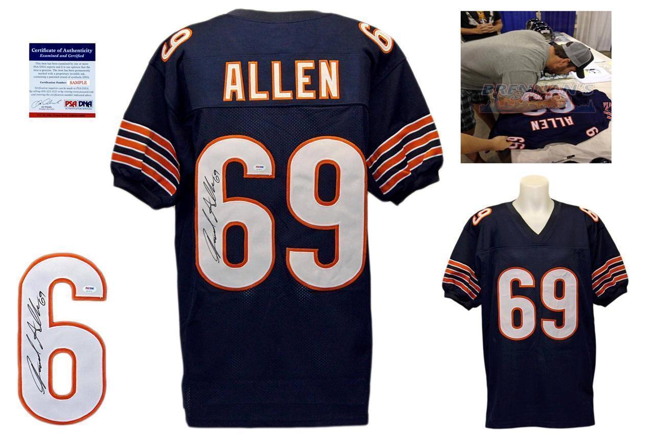 Jared Allen Chicago Bears Signed jersey (PSA COA) Future HOF Defensive Lineman