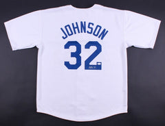 Magic Johnson Signed Los Angeles Dodgers Jersey (JSA COA)Former Lakers Superstar