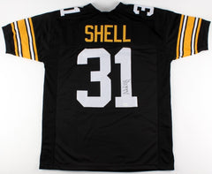 Donnie Shell Signed Steelers Jersey (TSE) 4× Super Bowl champion (IX,X,XIII,XIV)