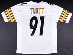 Stephon Tuitt Signed Steelers Jersey (TSE COA) Notre Dame Fighting Irish