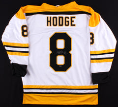 Ken Hodge Signed White Boston Bruins Jersey (Leaf COA) Playing career 1964–1980
