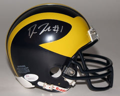 Devin Funchess Signed Michigan Wolverines Mini-Helmet (JSA) Carolina Panthers WR