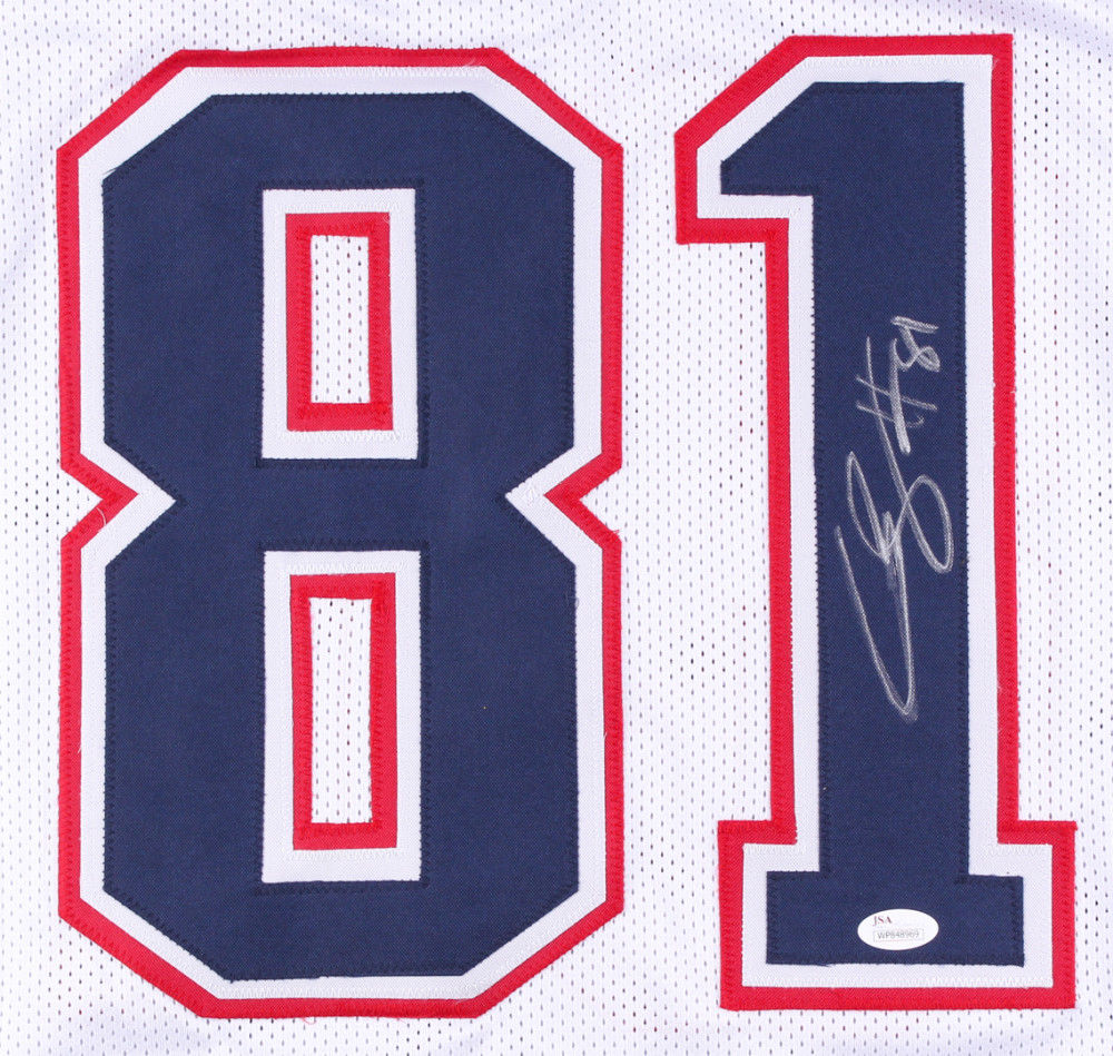 purchase cheap 891e6 3d188 Cody Hollister Signed Patriots Jersey (JSA COA) New England Back Up Wide Out