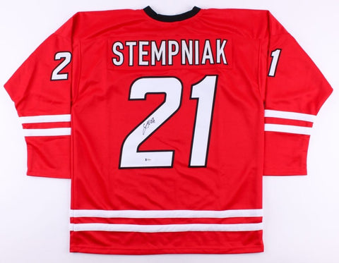 Lee Stempniak Signed Hurricanes Jersey (Beckett COA) Playing career 2005–present