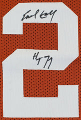 Ricky Williams & Earl Campbell Signed Texas Longhorns Jersey (Beckett COA)
