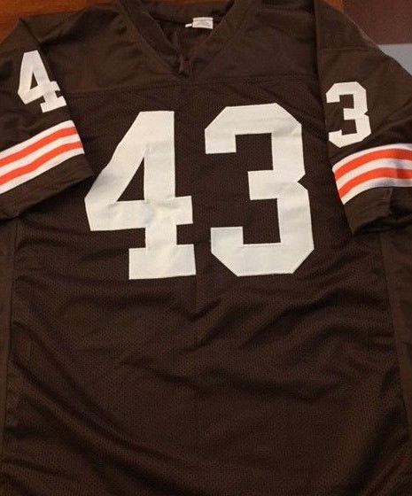 free shipping fc60f af6cd Mike Pruitt Signed Cleveland Browns Football Jersey (JSA COA) 2× Pro Bowl  Back