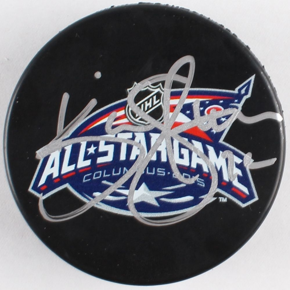 Kevin Shattenkirk Signed 2015 All-Star Game Logo Hockey Puck (JSA COA) Capitals