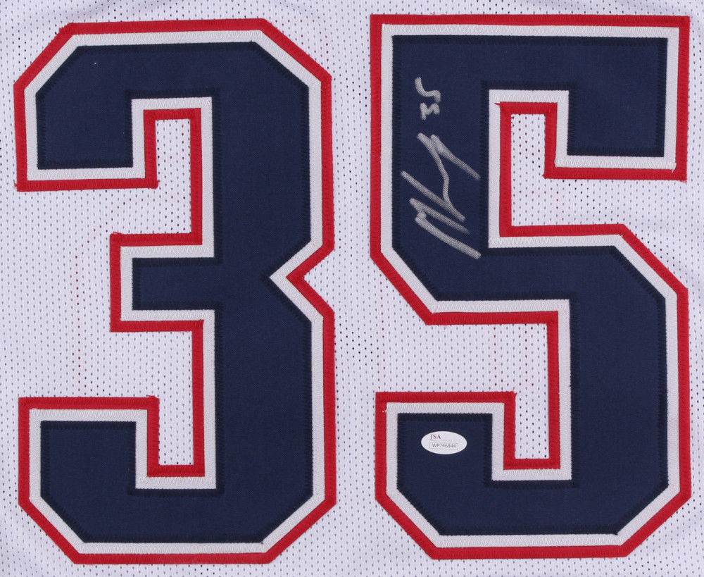 Mike Gillislee Signed New England Patriots Jersey (JSA COA)Starting Running Back