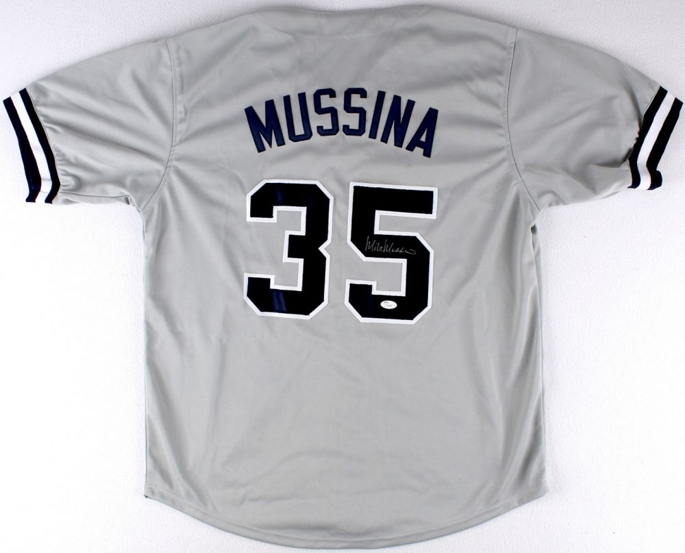 Mike Mussina Signed Yankees Jersey (JSA COA)