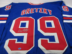 "Wayne Gretzky New York Rangers Signed Jersey ""The Great One"" / Rangers 1996-1999"