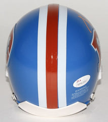 Aqib Talib Signed Broncos Throwback Mini-Helmet (JSA) Super Bowl champion (50)