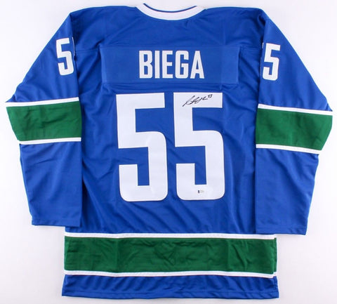 Alex Biega Signed Canucks Jersey (Beckett COA) Playing career 2010–present