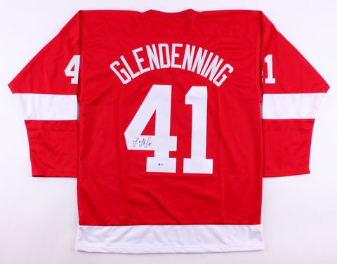 Luke Glendening Signed Red Wings Jersey (Beckett) Playing career 2012–present