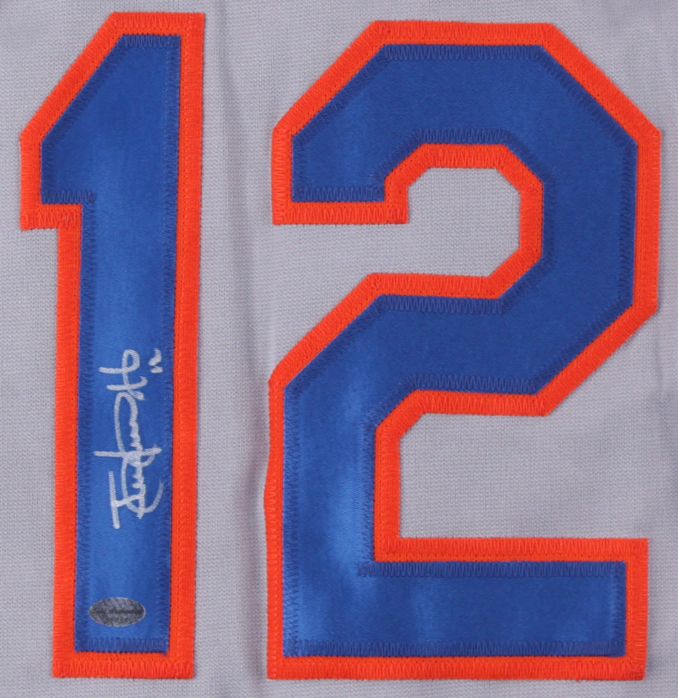 another chance 6d327 2d2b9 Juan Lagares Signed New York Mets Gray Road Jersey (Leaf COA)