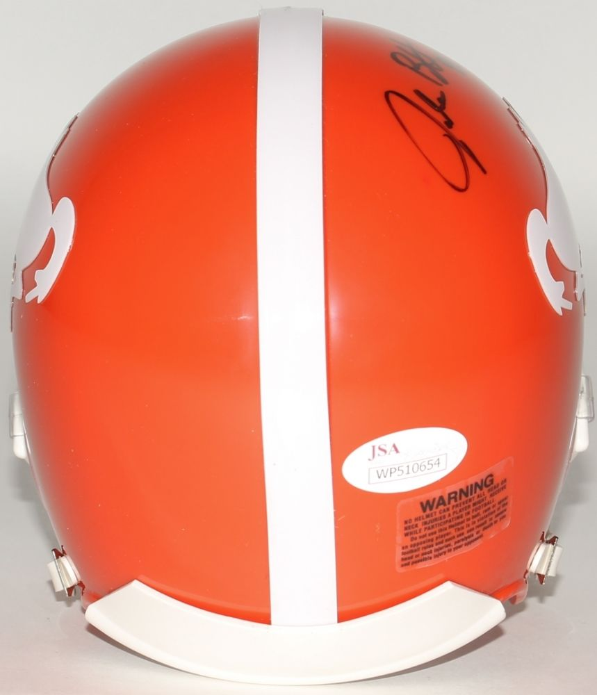 Jake Butt Signed Broncos Throwback Mini Helmet (JSA) Denver 2017 5th Rd Pick T.E
