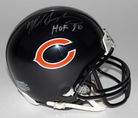 "Mike Singletary Signed Bears Mini-Helmet Inscribed ""HOF 98"" (Schwartz)""85 Bears"""
